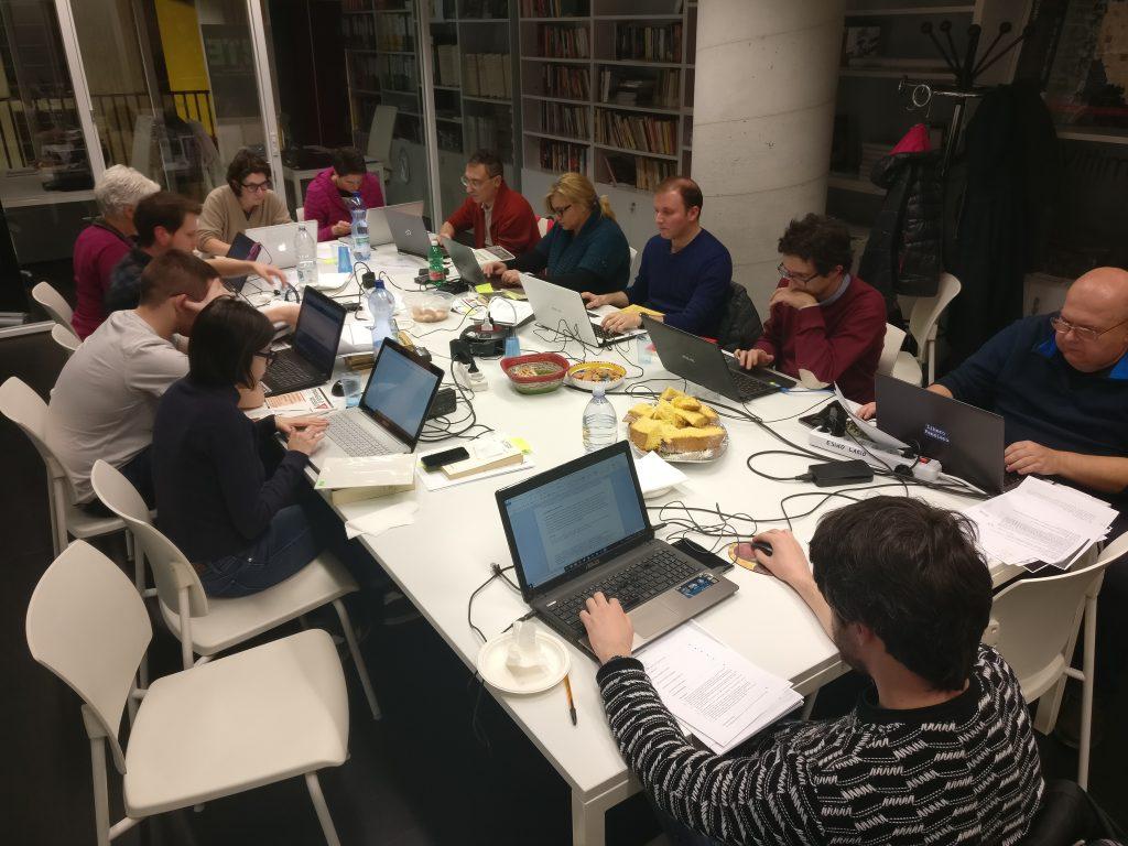 Wikipediani al lavoro alla Casa della Memoria